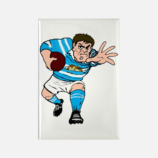 Argentina Rugby Forward Rectangle Magnet