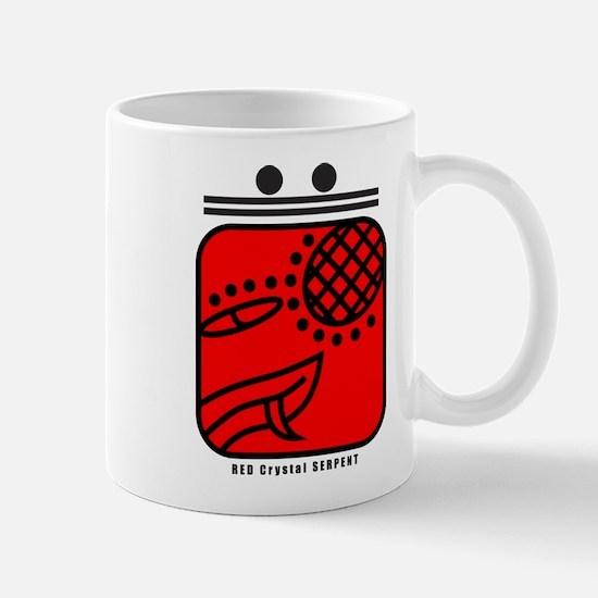 RED Crystal SERPENT Mug