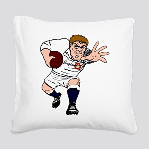 English Rugby Forward Square Canvas Pillow