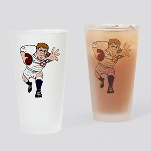 English Rugby Forward Drinking Glass