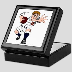 English Rugby Forward Keepsake Box