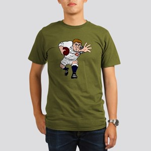 English Rugby Forward Organic Men's T-Shirt (dark)