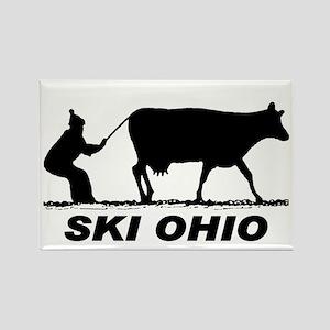 The Ski Ohio Shop Rectangle Magnet