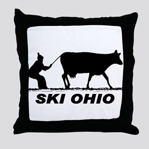 The Ski Ohio Shop Throw Pillow