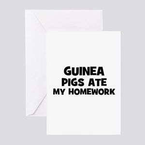Guinea Pigs Ate My Homework Greeting Cards (Packag