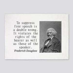 To Suppress Free Speech 5'x7'Area Rug