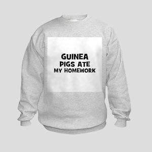 Guinea Pigs Ate My Homework Kids Sweatshirt