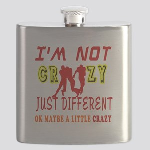 I'm not Crazy just different Rugby Flask