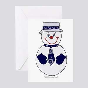 Snowman Topper Greeting Cards (Pk of 10)