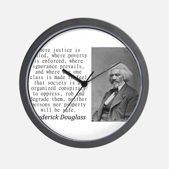 Where Justice Is Denied Wall Clock