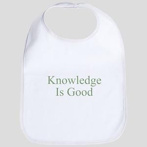 Knowledge Is Good Bib