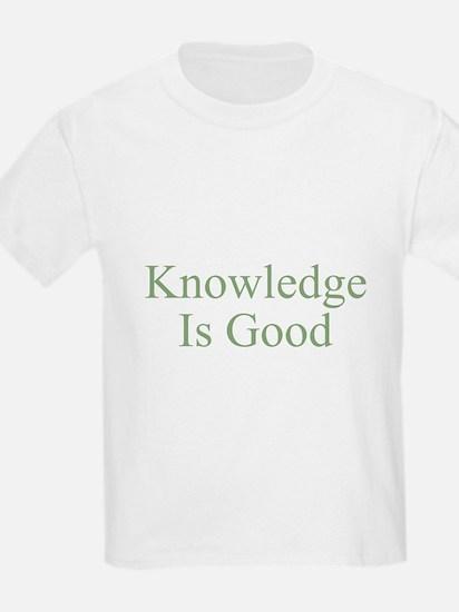 Knowledge Is Good Kids T-Shirt