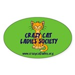 Oval Sticker - Wallaby CCLS Logo