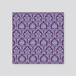 "Cerulean & Alyssum Damask Square Sticker 3"" x 3"""