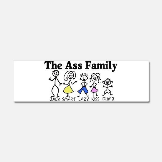 The Ass Family Car Magnet 10 x 3