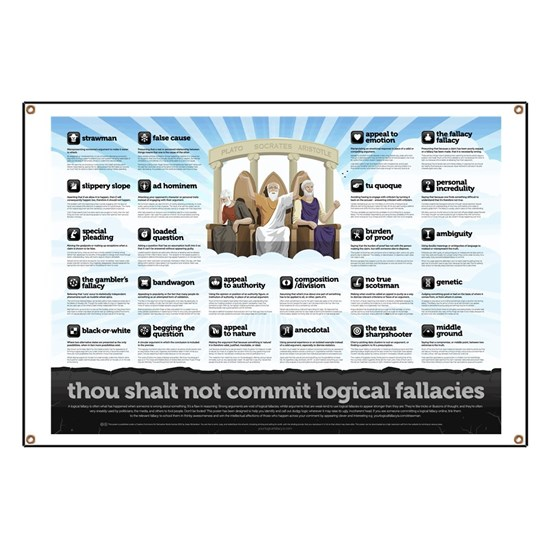 Thou Shall Not Commit Logical Fallacies Poster