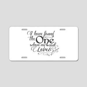 Song of Solomon Aluminum License Plate