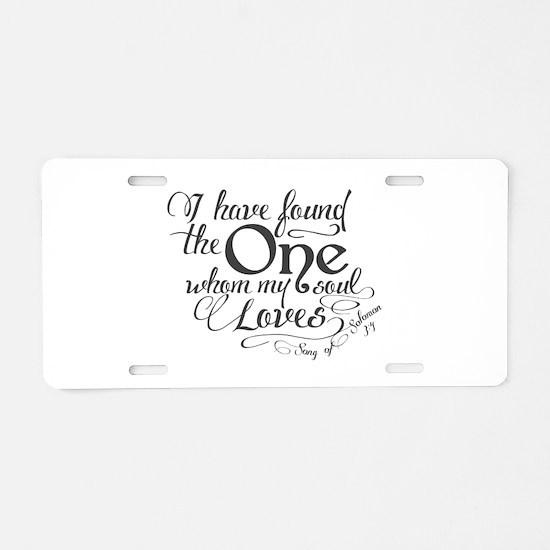 Song of Solomon Aluminum License Plate