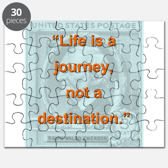 Life Is a Journey - Ralph Waldo Emerson Puzzle