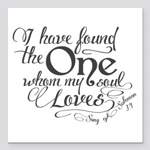 """Song of Solomon Square Car Magnet 3"""" x 3"""""""