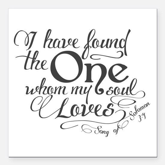 "Song of Solomon Square Car Magnet 3"" x 3"""