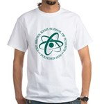 Green Atom White T-Shirt