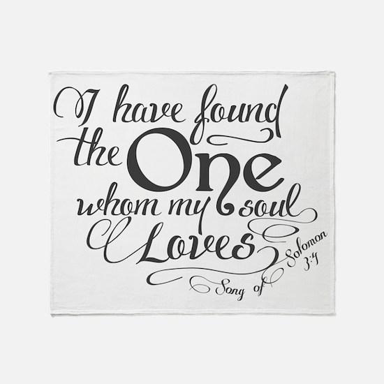 Song of Solomon Throw Blanket