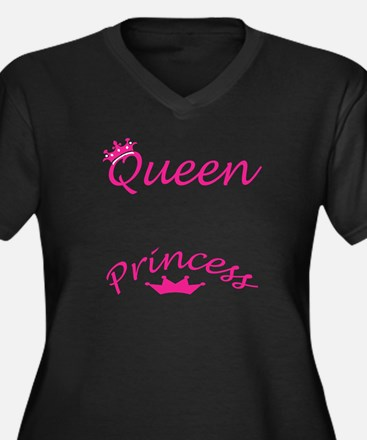 Queen and Princess Pink Plus Size T-Shirt