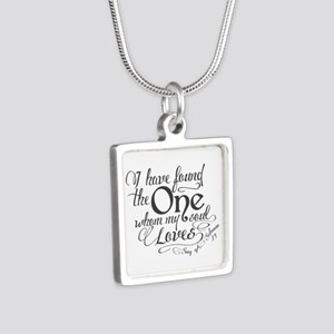 Song of Solomon Silver Square Necklace