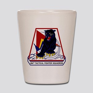 494th TFS Shot Glass