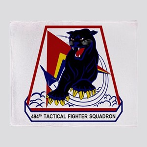 494th TFS Throw Blanket