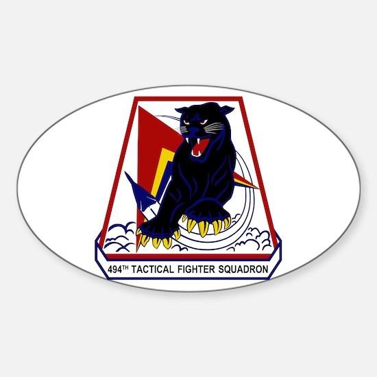494th TFS Sticker (Oval)