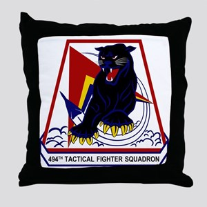 494th TFS Throw Pillow