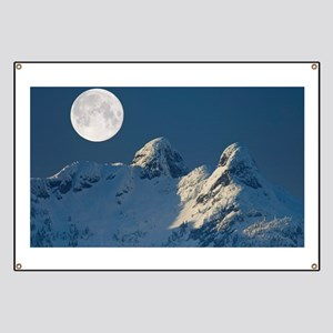 Full Moon over The Lions, Canada - Banner