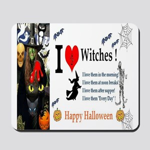 Halloween Witch Love Mousepad