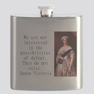 We Are Not Interested - Queen Victoria Flask