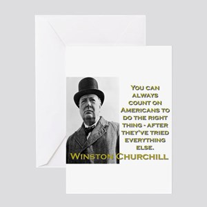 You Can Always Count On Americans - Churchill Gree