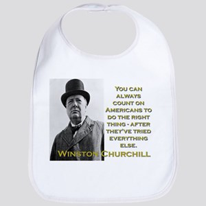 You Can Always Count On Americans - Churchill Cott
