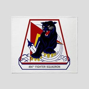 494th FS Throw Blanket