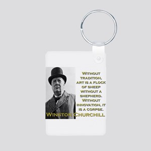 Without Tradition - Churchill Aluminum Photo Keych