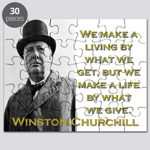 We Make A Living By What We Get - Churchill Puzzle