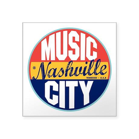 "Nashville Vintage Label 3"" Lapel Sticker (48"