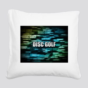 Disc Golf Square Canvas Pillow