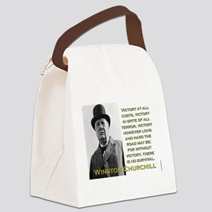 Victory At All Costs - Churchill Canvas Lunch Bag