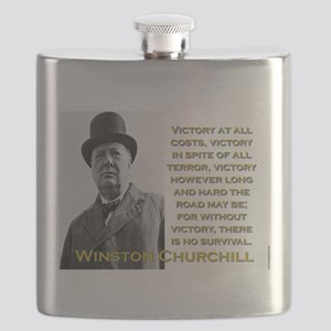 Victory At All Costs - Churchill Flask