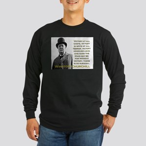 Victory At All Costs - Churchill Long Sleeve Dark
