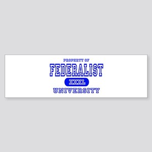 Federalist University Bumper Sticker