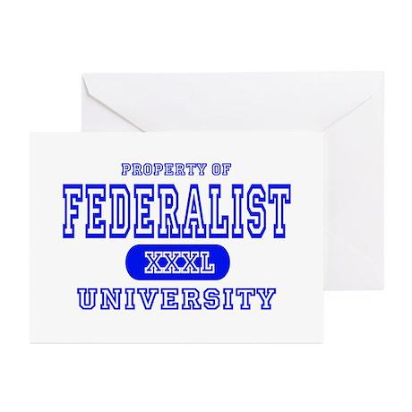 Federalist University Greeting Cards (Pk of 10
