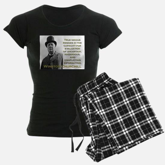 True Genius Resides - Churchill Pajamas
