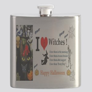 Halloween Witch Love Flask
